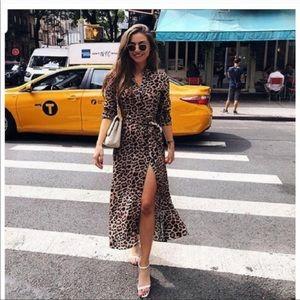 Zara Dresses - Zara Blogger Fave Leopard print shirt dress